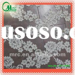 embroidery franch lace fabric with cord for wedding dress