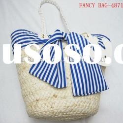 fashion corn husk summer beach bag