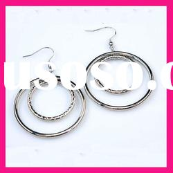 fashion silver color stainless steel cheap indian hoop earrings for women