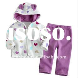 fashion winter 100% cotton baby clothing sets,baby suits