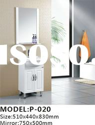 floor standing high gross white PVC ceramic basin bathroom cabinet vanity