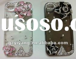 handmade mobile phone cases with high quality shining diamonds for lady's 4g/4gs