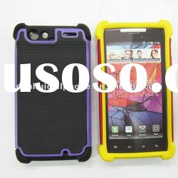 hard protector 3 in 1 pc tpu silicone case for Motorola DROID RAZR XT910