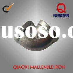 hot dipped galvanized malleable iron pipe fitting, beaded elbow with NPT thread
