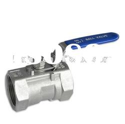 hot sale stainless steel screwed 1 pc ball valve 304 material