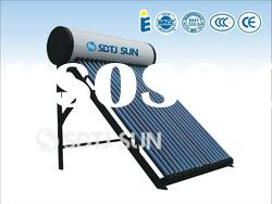 integrative pressurized coiler solar water heater (Pressure compact solar pipe collector heater)