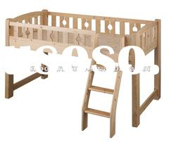 kids&children pinewood bunk bed