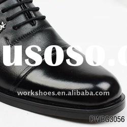 lastest high quality men dress leather shoes black color