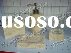 natural beige marble soap dish for bathroom decoration