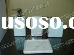 natural stone bathroom accessories made of white marble