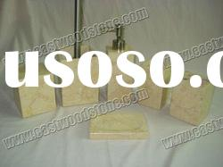 natural stone bathroom accessories set