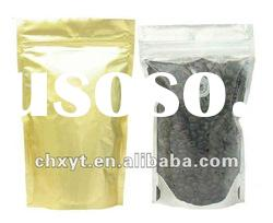 one way valve coffee bags with clear window and zipper top