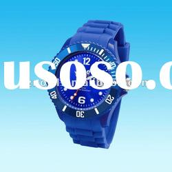 popular silicone wrist watch waterproof silicone bracelet watch