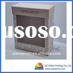 promotional gift box with clear pvc window