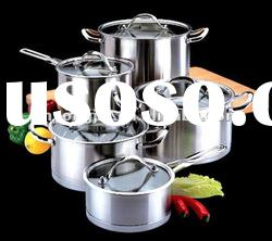 straight shape 10pcs stainless steel cookware set