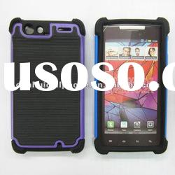 top quality 3 in 1 combo hard case for Motorola DROID RAZR XT910