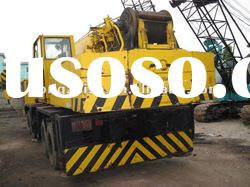 used crane of the used XCMG50T with 4booms for sale