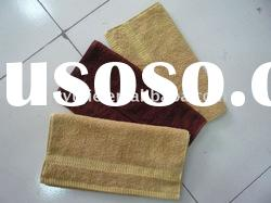 100% cotton terry cloth towel with border