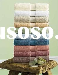 100% cotton terry hotel bath towel with border