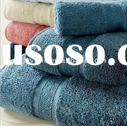 100 cotton terry hotel towel with border
