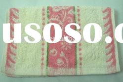 100% cotton yarn dyed terry jacquard face towel