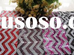 100%polyester mesh spangle embroidery fabric