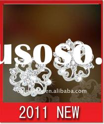 2011 NEW design brass or sterling silver earrings, paypal