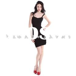 2012 Black Slim Lady Strap Dress,Fashion Party Evening Dress DH106
