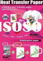 A3/A4 size KHT-150PN premium t-shirt inkjet transfer paper, light(good quality)