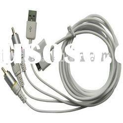 AV Cable+USB CHARGER FOR iPOD NANO CLASSIC iPHONE 3G/av cable for iphone