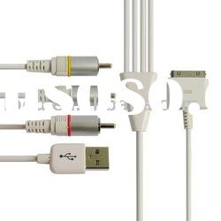 AV Cable with USB Jack for iPad