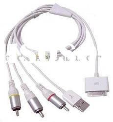 AV USB Video Cable for iPhone 3G iPod Touch Nano/av cable for iphone3G