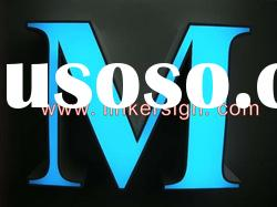 Acrylic and steel frontlit LED channel letter sign