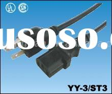 American type Power cord set cable electric wire assembly