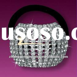 Beauty design diamond hair band with elastic