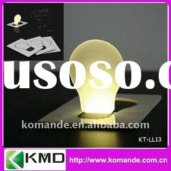 Bulb Shape Card LED Light for promotion or gift