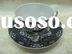 Ceramic Tea Cup and Saucer with Full Printing