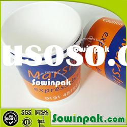 Custom Printed Paper Soup Cups with Plastic Lids