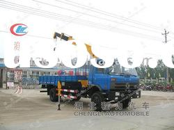 DongFeng 145 4X2 truck with loading crane