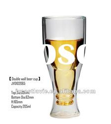 Double Wall Beer Glass Cup