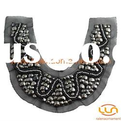 Fashion garment accessories mesh beaded collar