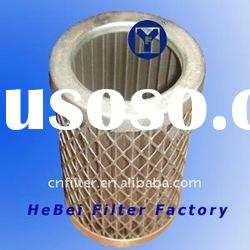 Filter cartridge for hydraulic filter for oil filtration, stainless steel wire mesh filter element