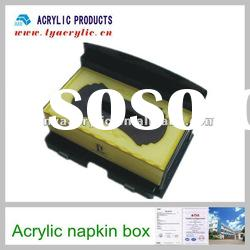High quality acrylic special acrylic tissue display box with two drawer