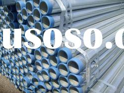 Hot Galvanized Steel Pipe for transport fluid,BS 1387 hot galvanized steel pipe