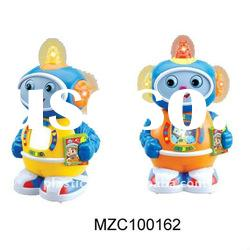 Kid plastic toy light music robot MZC100162
