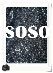 MESH WITH 3MM SPANGLE EMBROIDERY FABRIC