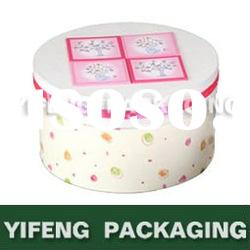 Paper gift box with lid and bottom for candy