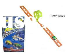 Plastic pull back car track toy PZH113629