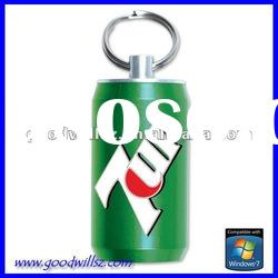 Promotional metal bottle usb flash drive 1gb with logo