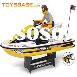 Remote control plastic battery powered boat motor